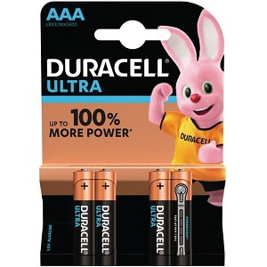 Blister de 4 Duracell Ultra Power AAA (MX2400B4)