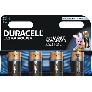 Blister de 4 Duracell Ultra Power C