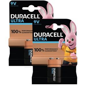 9V Duracell Ultra Power 2 Packs de Piles (BUN0025A)