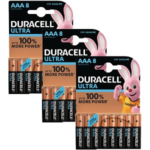 Blister de 24 Duracell Ultra Power AAA (BUN0030A)