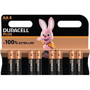 Duracell Plus Power AA Pack de 8 (MN1500B8)