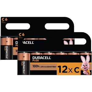 Duracell Plus Power de type C (Pack de 12)
