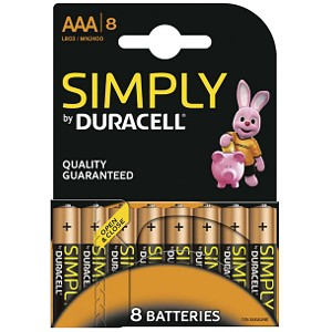 Duracell Simply AAA 8 Pack (MN2400B8S)
