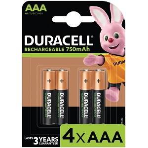 Duracell AAA 750mAh Rechargeable - Pack de 4