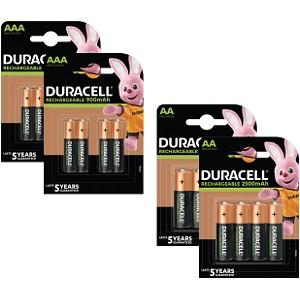 Duracell Pré-Chargées AA & AAA Pack de 16 (BUN0044B)