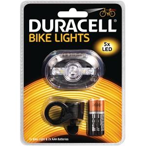 Lampe avant de vélo Duracell - 5 LED (BIK-F03WDU)