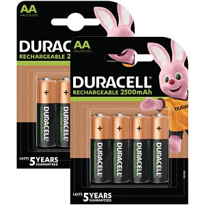 Duracell Pré-chargées AA 2500mAh x 8 (BUN0052A)