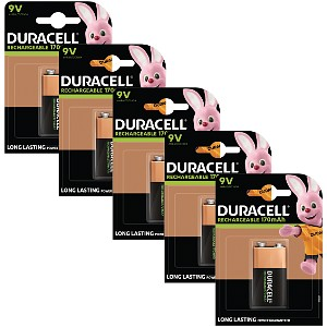 Duracell Rechargeable 9V x 5