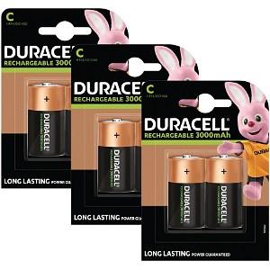 Piles Duracell Rechargeables de type C x 6 (BUN0056A)