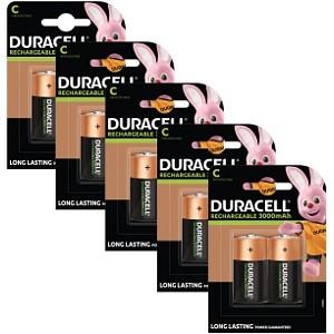 Piles Duracell Rechargeables de type C x 10 (BUN0057A)