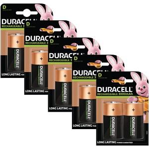 Piles Duracell Rechargeables de type D x 10 (BUN0059A)