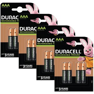 Duracell AAA 750mAh Rechargeable - Pack  de 16