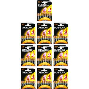 Duracell Plus Power AAA Pack de 5 + 3 gratuits (MN2400B5+3BULK)