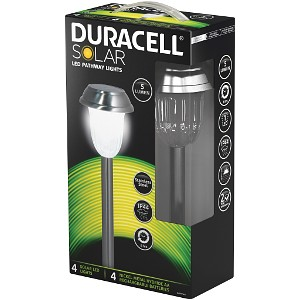 Duracell 4Pk 5 Lumen Solar LED Pathway Lights (GL010NP4DU)