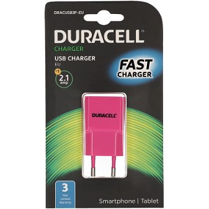 Duracell 2.1A USB Phone/Tablet Charger (DRACUSB3P-EU)