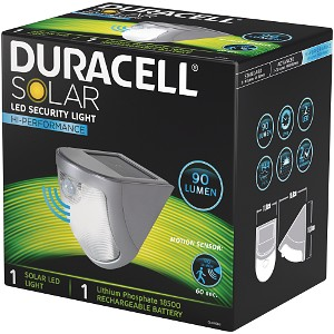 Duracell 90 Lumen Solar LED Security Light (GL020SDU)