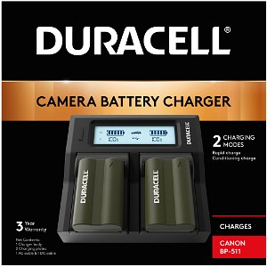 Duracell Canon BP-511 Dual Battery Charger (DRC6101)