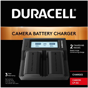 Duracell Canon LP-E6N Dual Battery charger (DRC6103)