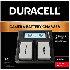 Duracell Canon LP-E8 Dual Battery charger (DRC6104)