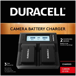 Duracell Canon LP-E10 Dual Battery Charger (DRC6105)
