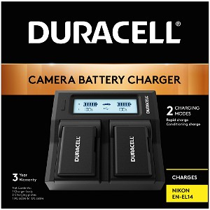 Duracell Nikon EN-EL14 Dual Battery Charger (DRN6112)