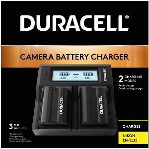 Duracell Nikon EN-EL15 Dual Battery Charger (DRN6113)