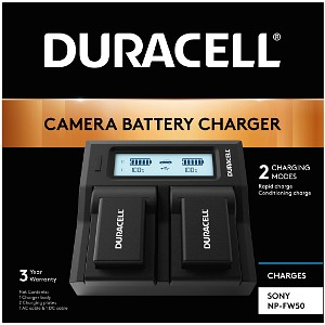 Duracell Sony NPFW50 Dual Battery Charger (DRS6120)