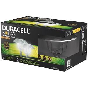 Duracell Solar LED Set of 2 Pathway Light Dual Mo (GL026NP2DU)