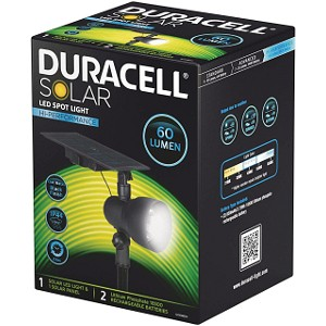 Duracell Solar Spot Light 6 Hours 60 Lumens (GL008BDU)