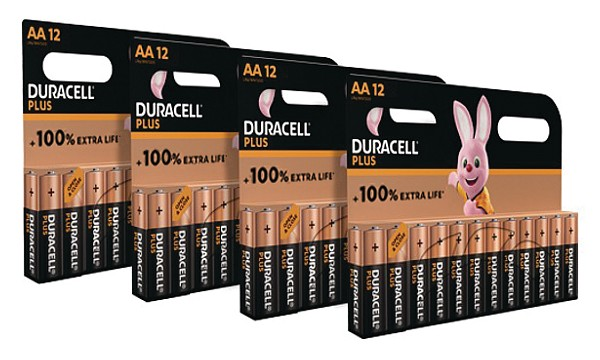 Plus Power AA Battery 48 Pack
